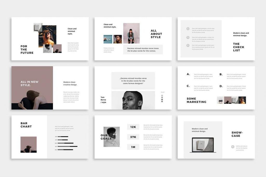 70+ Modern BOSH Slides - Powerpoint Template.
