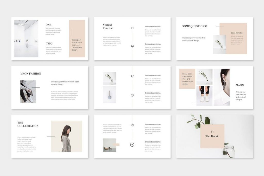 Easy Editable Colors MAON - Powerpoint Template.