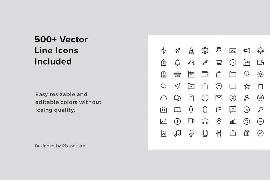 Vector Icons VIGO Vertical Google Slides Template.