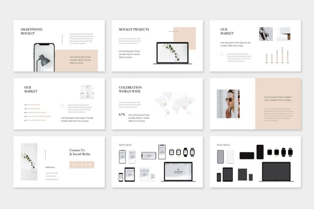 Vector devices mocap MAON - Powerpoint Template.