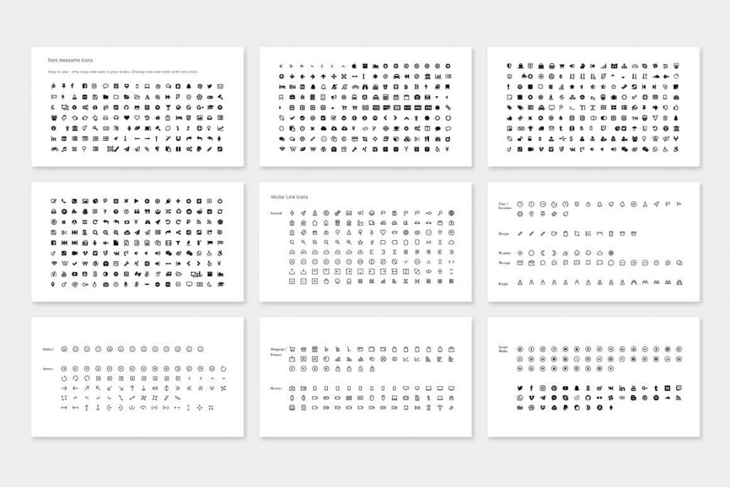 Over 1100+ MAON Icons - Powerpoint Template.