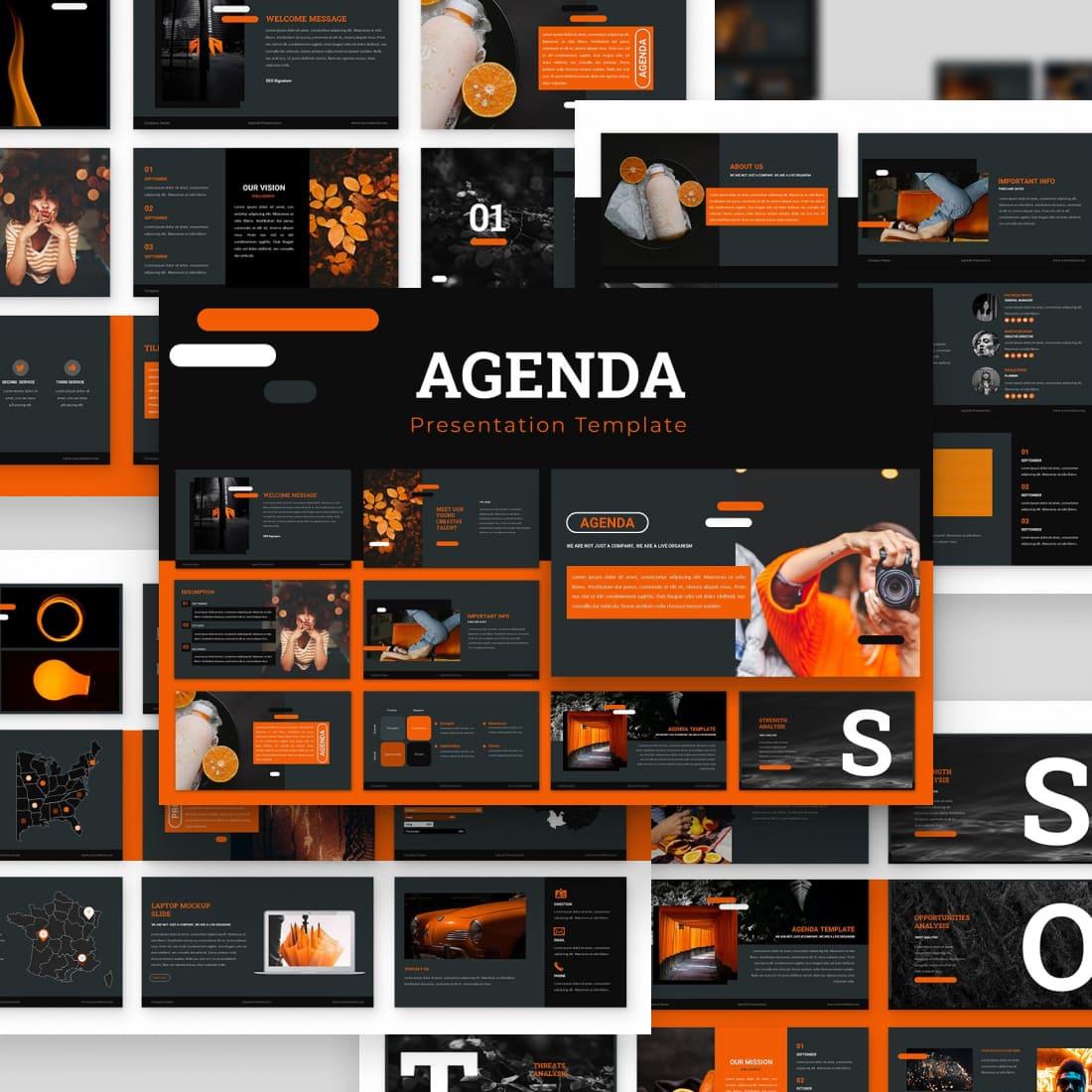 Agenda Powerpoint Presentation by MasterBundles.