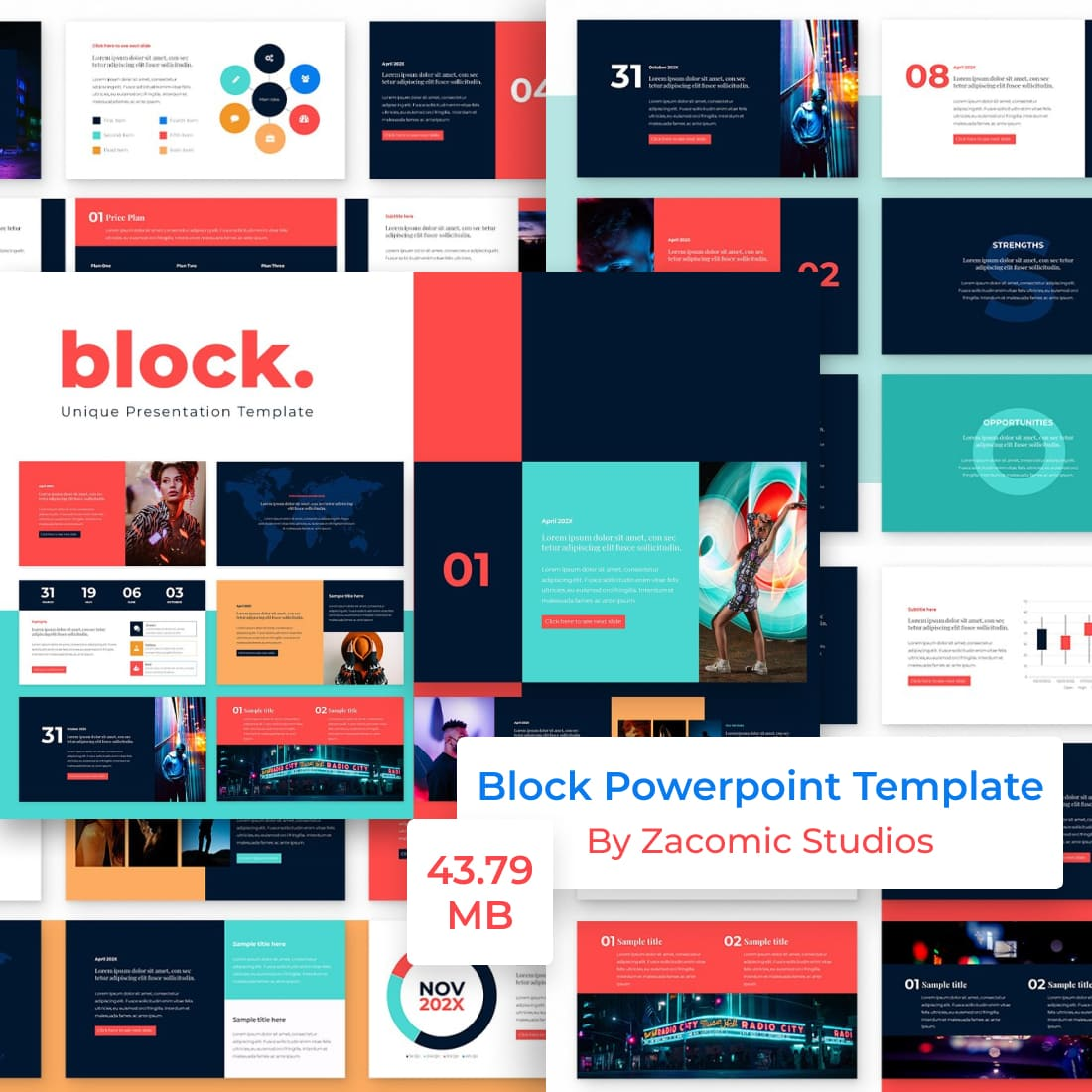 Block Powerpoint Presentation Template by MasterBundles.