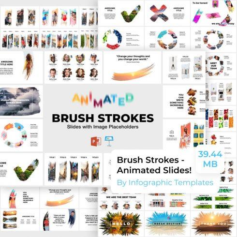 Brush Strokes - Animated Slides by MasterBundles.