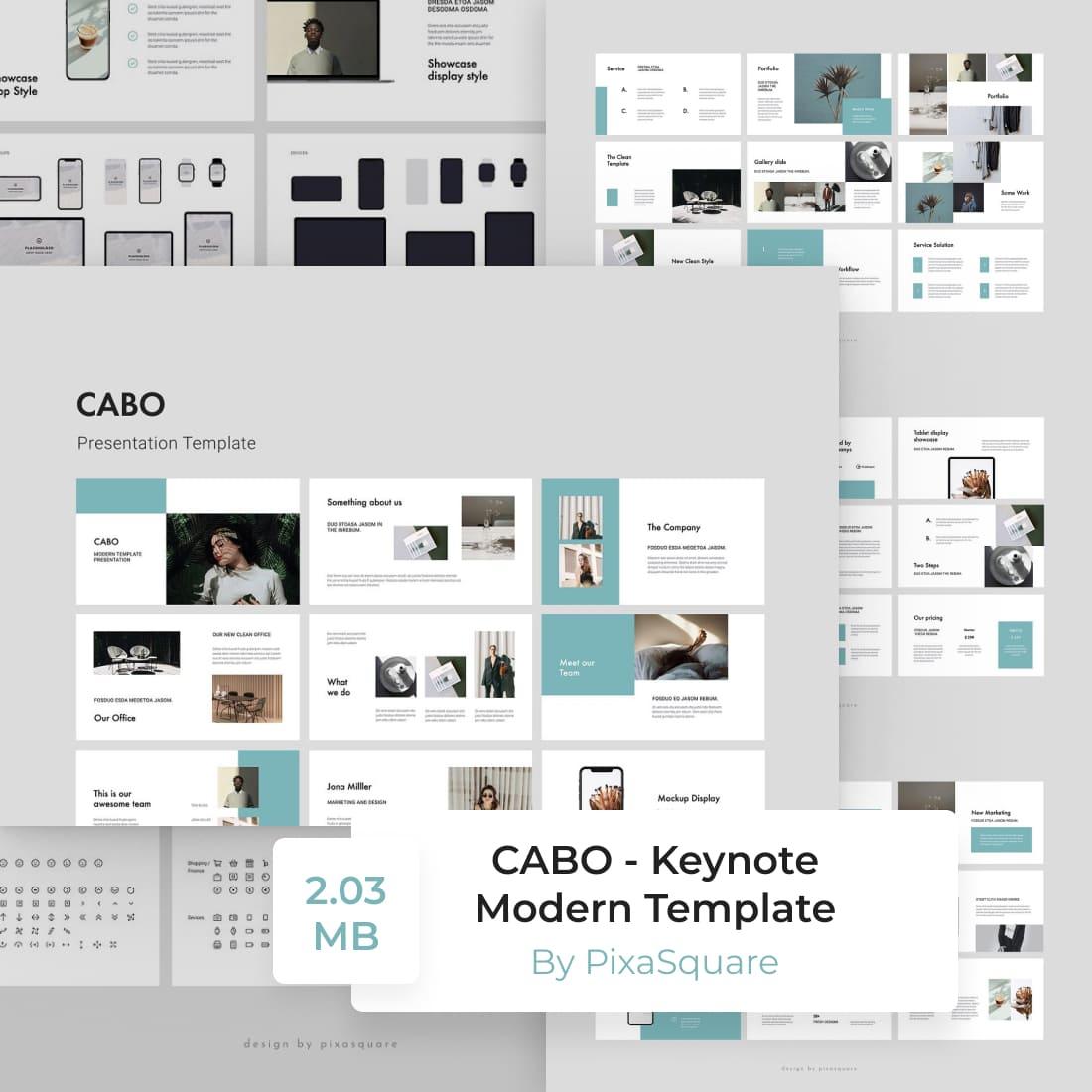 CABO - Keynote Modern Template by MasterBundles.