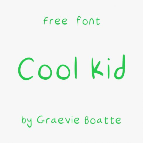 Cool Kid Free Font Main Cover Preview by MasterBundles.