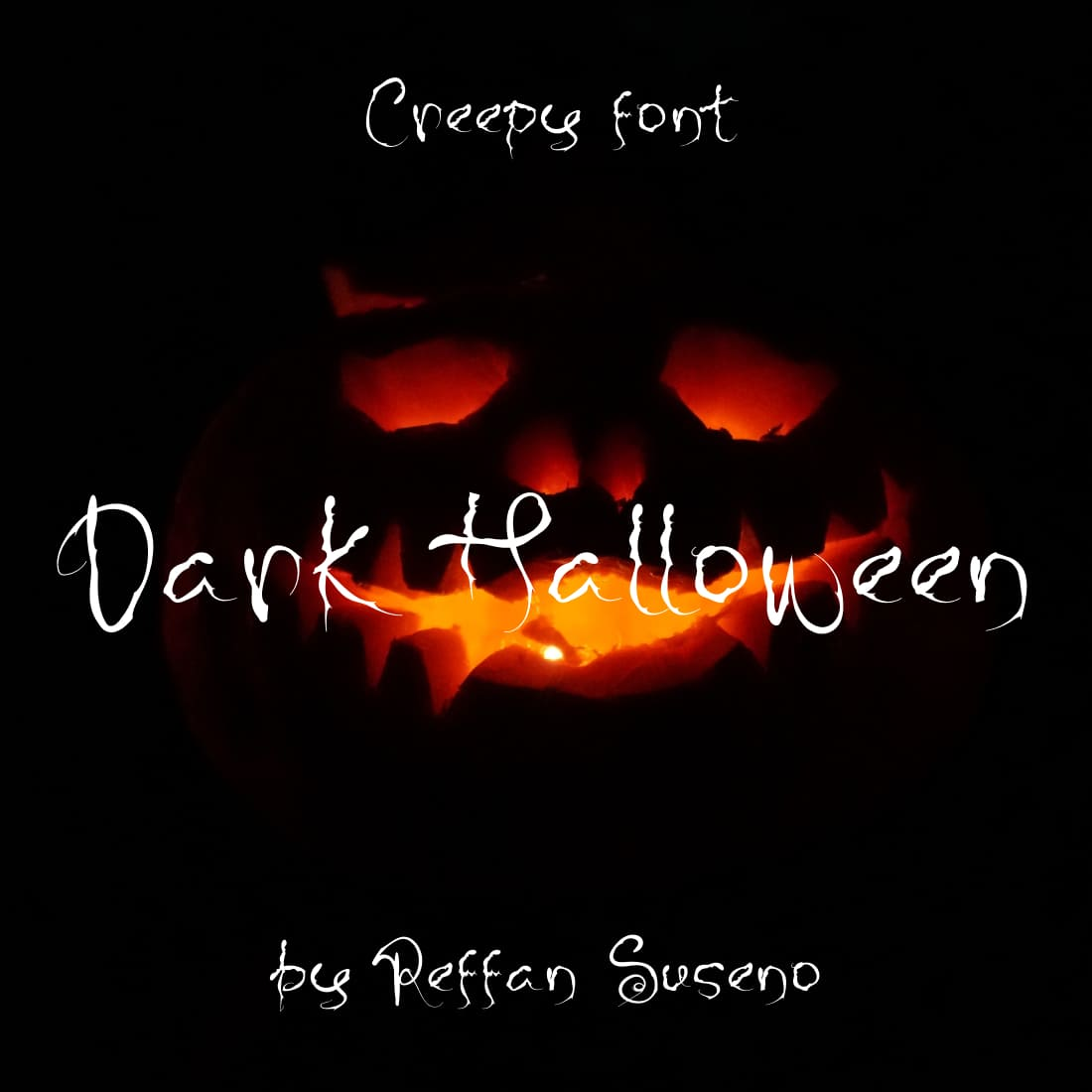 Dark Halloween best free font halloween Main Cover Image by MasterBundles.