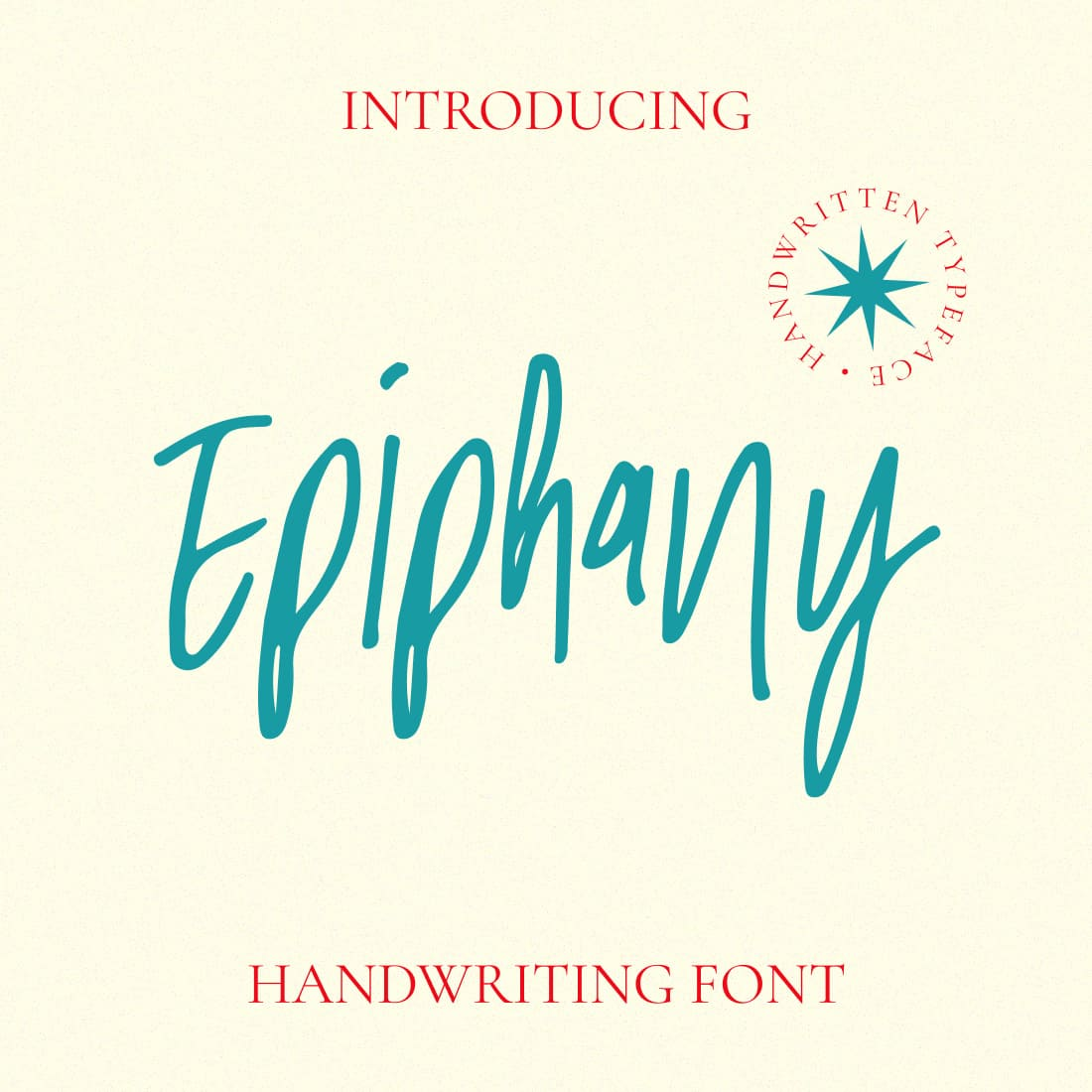 Epiphany Handwriting Font Main Collage Image by MasterBundles.