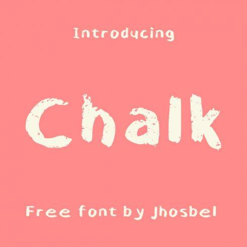 Free Chalk Font Main Cover Image by MasterBundles.