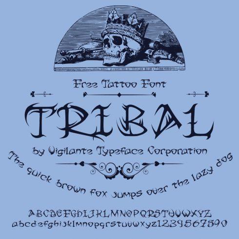Free Tribal Tattoo Font Main Cover Image by MasterBundles.