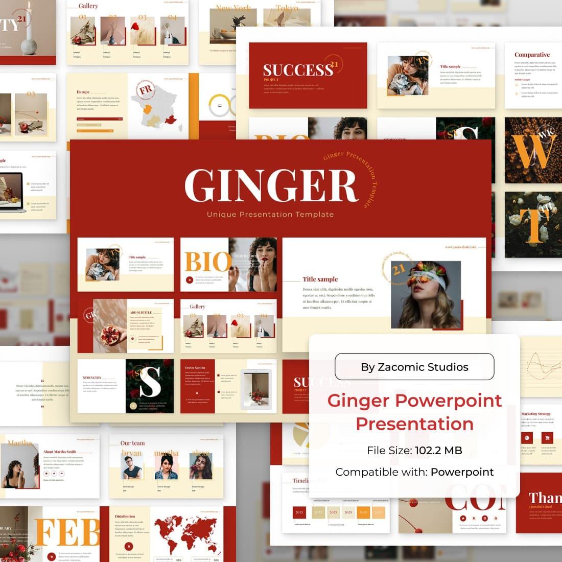 Ginger Powerpoint Presentation Template by MasterBundles.