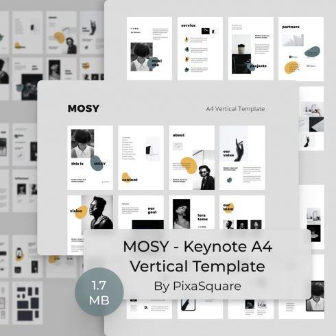MOSY - Keynote A4 Vertical Template by MasterBundles.