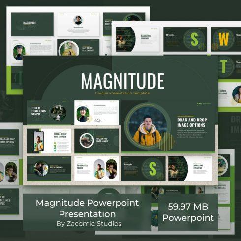 Magnitude Powerpoint Presentation Template by MasterBundles.