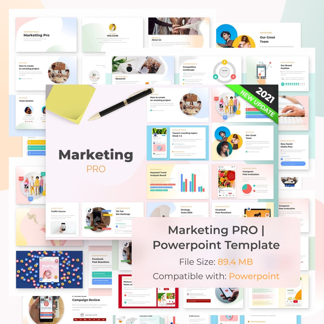Marketing PRO Powerpoint Template by MasterBundles.