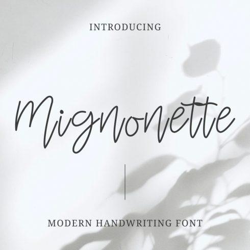 Mignonette Handwriting Font Main Collage Image by MasterBundles.