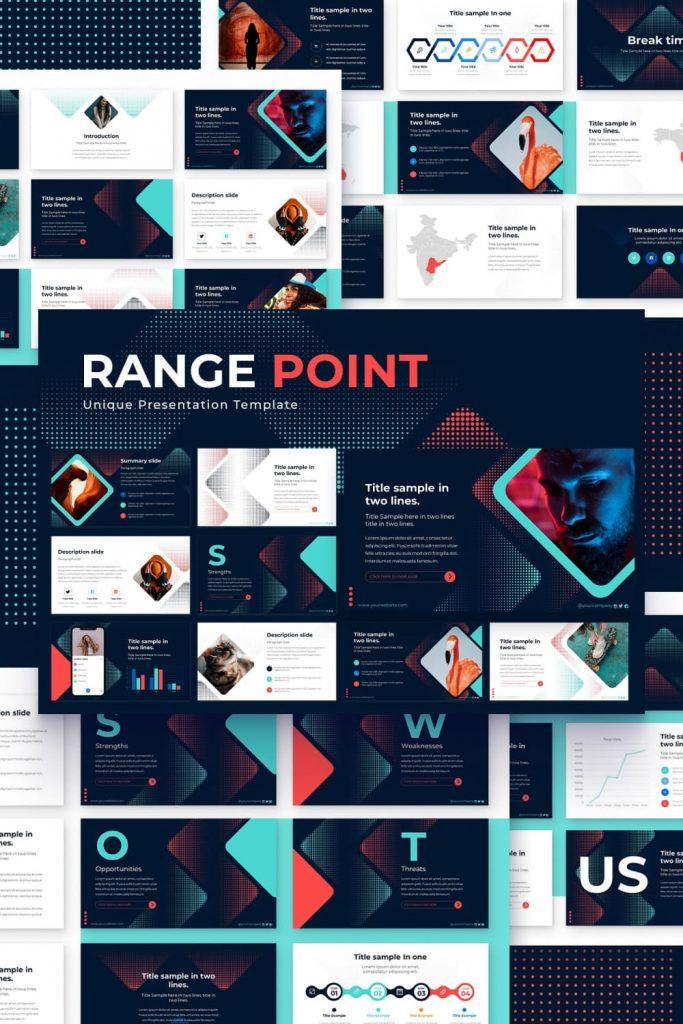 Range Point Powerpoint Presentation Template by MasterBundles Pinterest Collage Image.