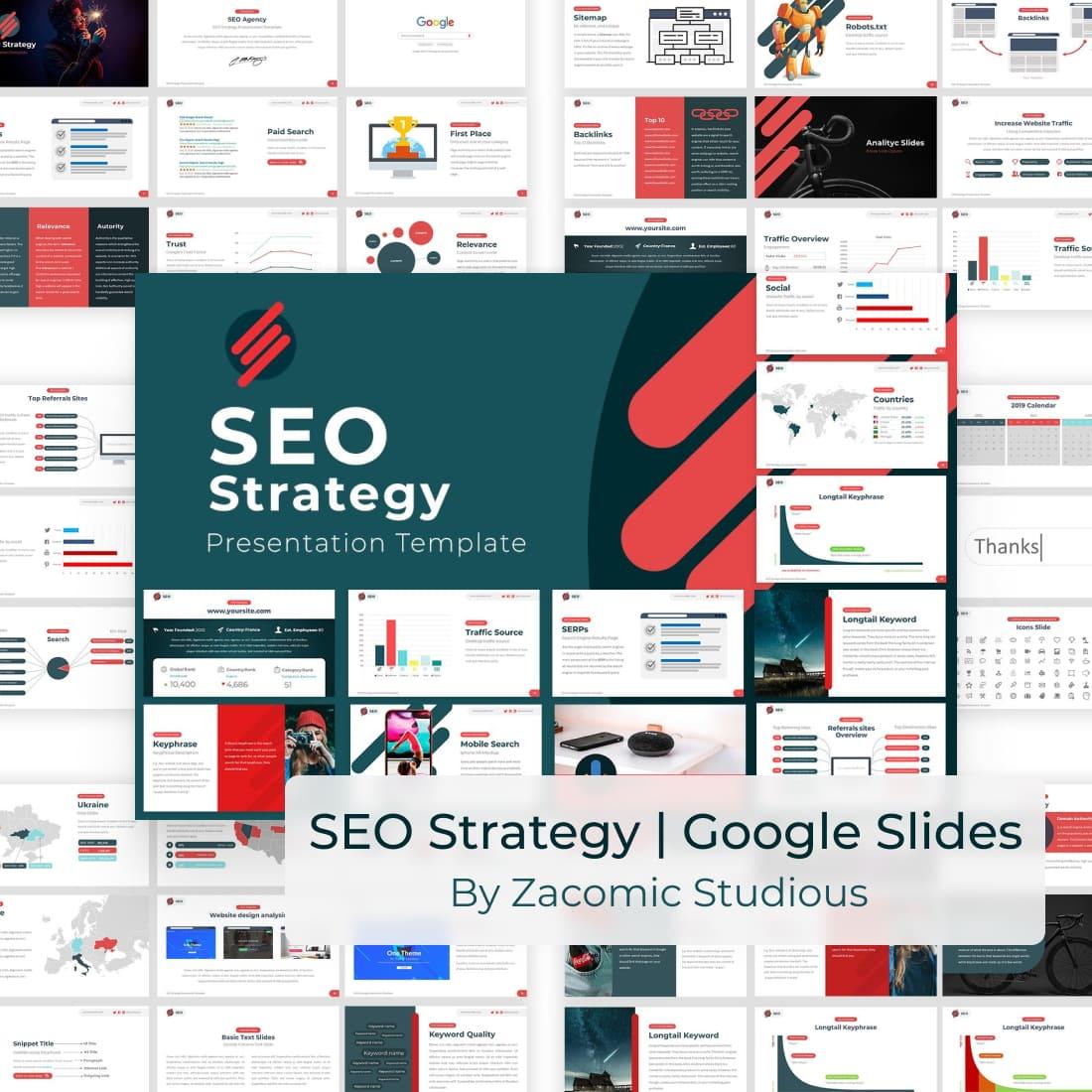 SEO Strategy Google Slides Template by MasterBundles.