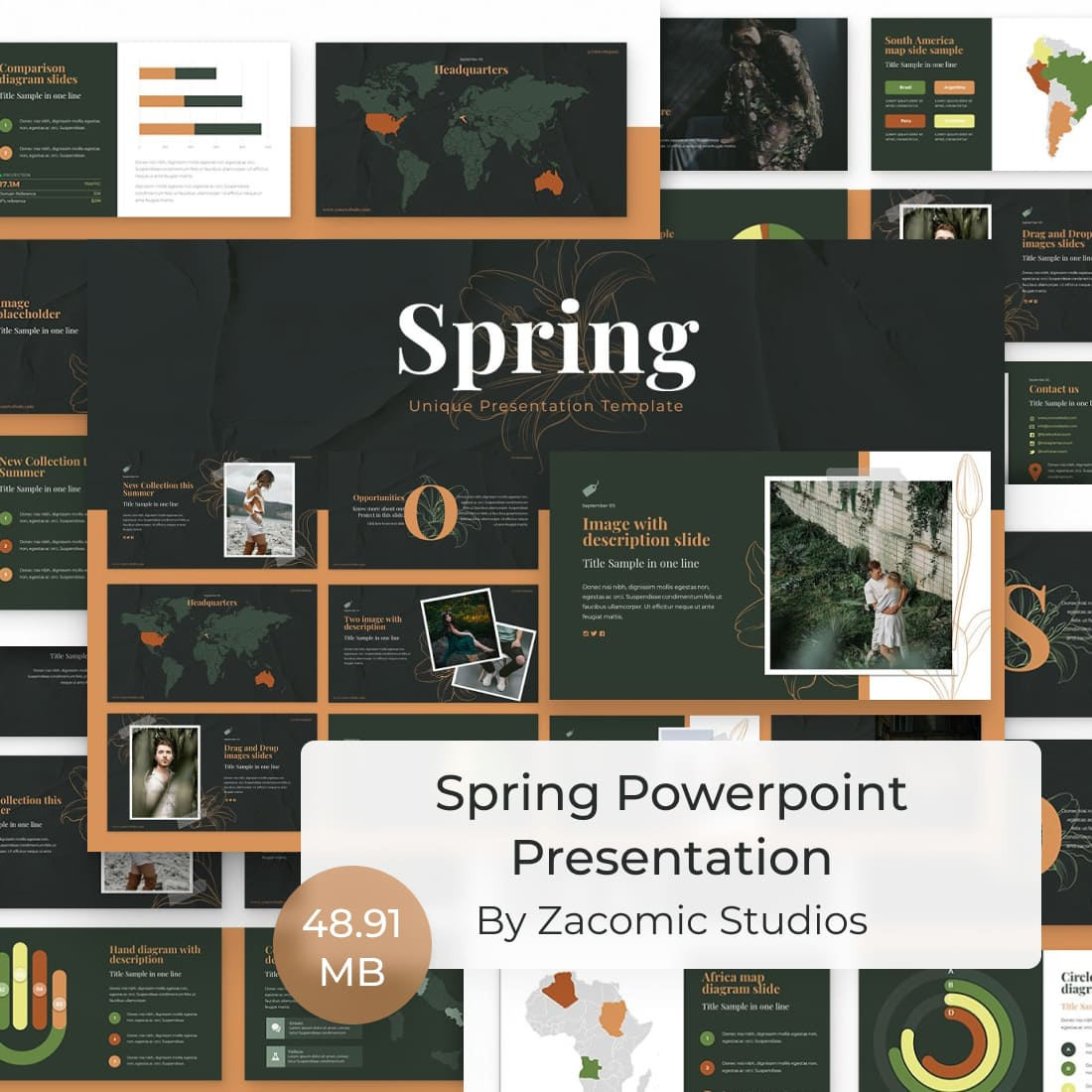 Spring Powerpoint Presentation by MasterBundles.
