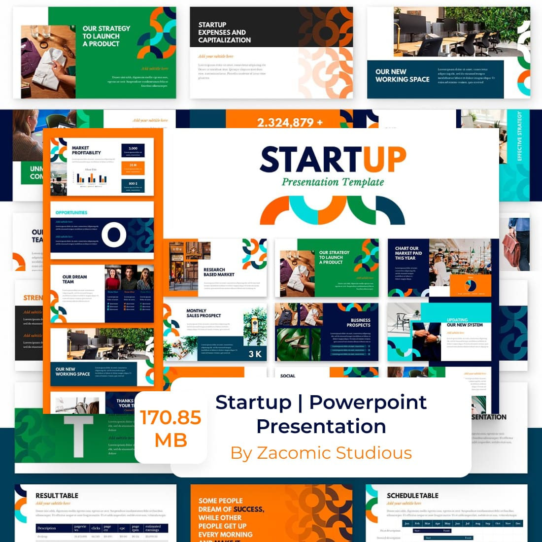 Startup Powerpoint Presentation Template by MasterBundles.