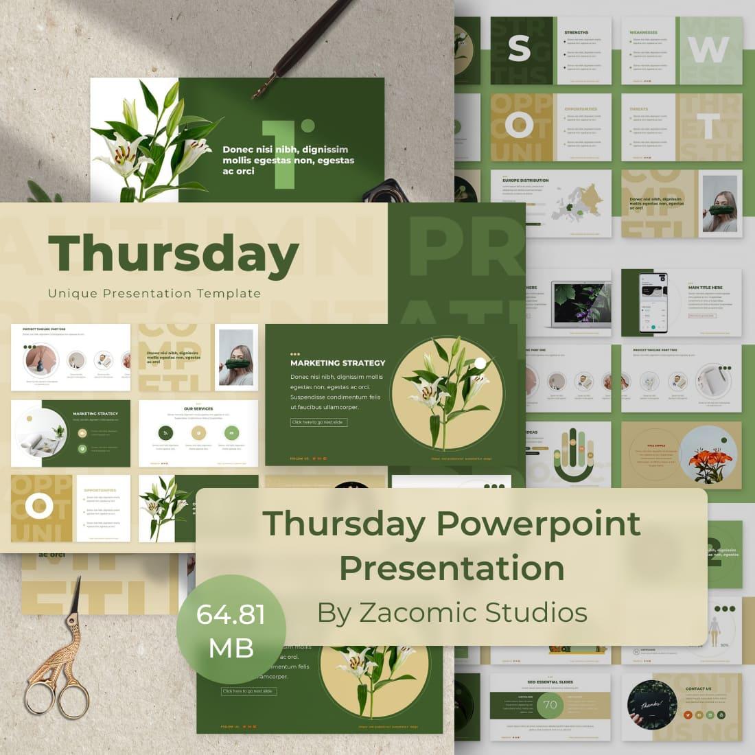 Thursday Powerpoint Presentation Template by MasterBundles.