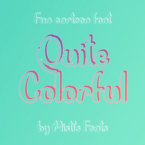 Free colorful font Main Cover Image by MasterBundles.