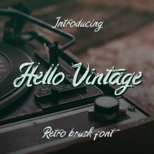 MasterBundles Collage Image for Retro hello vintage font free.
