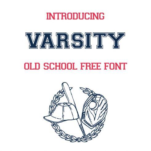 Main Cover Image for varsity font free by MasterBundles.