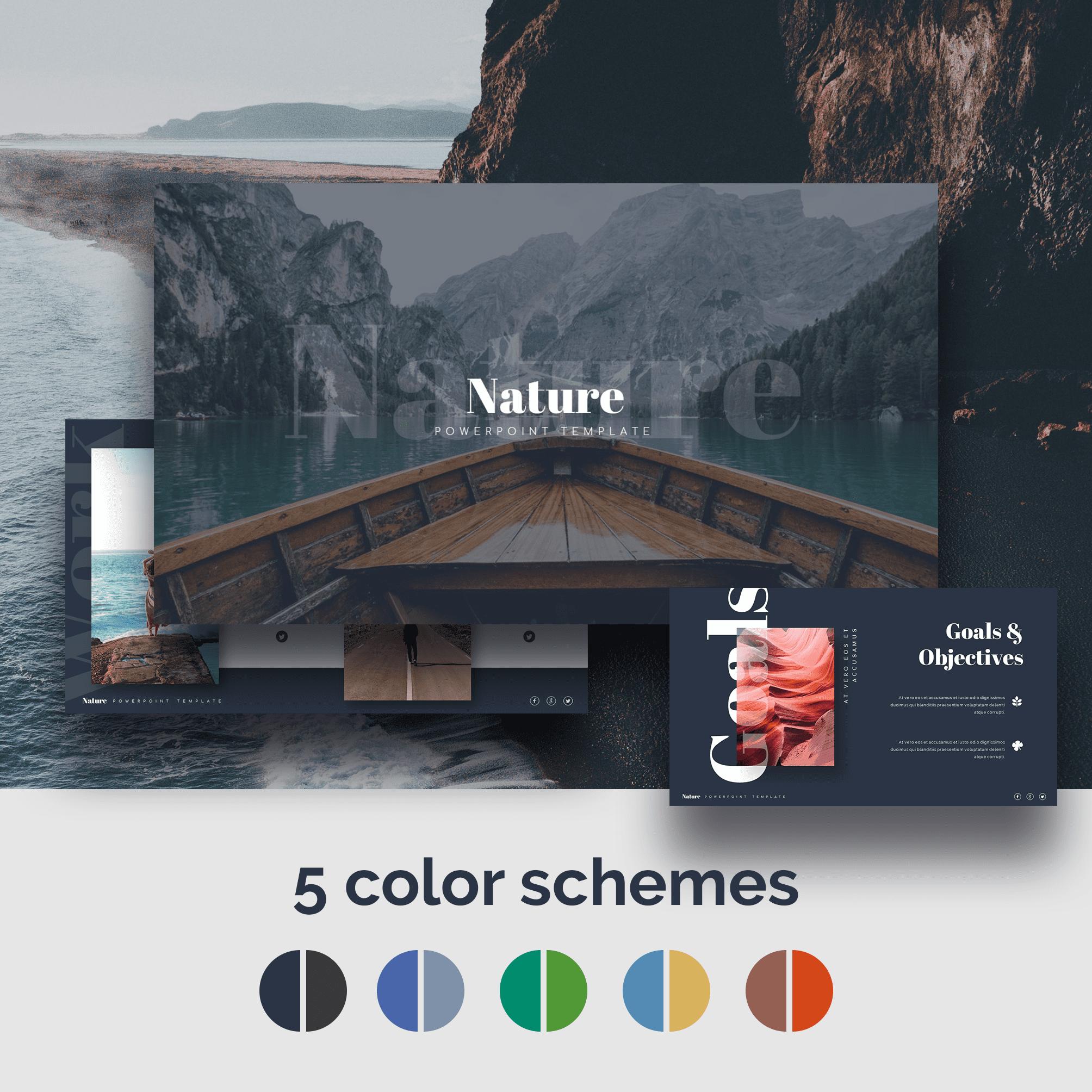 Nature Presentation Templates by MasterBundles.