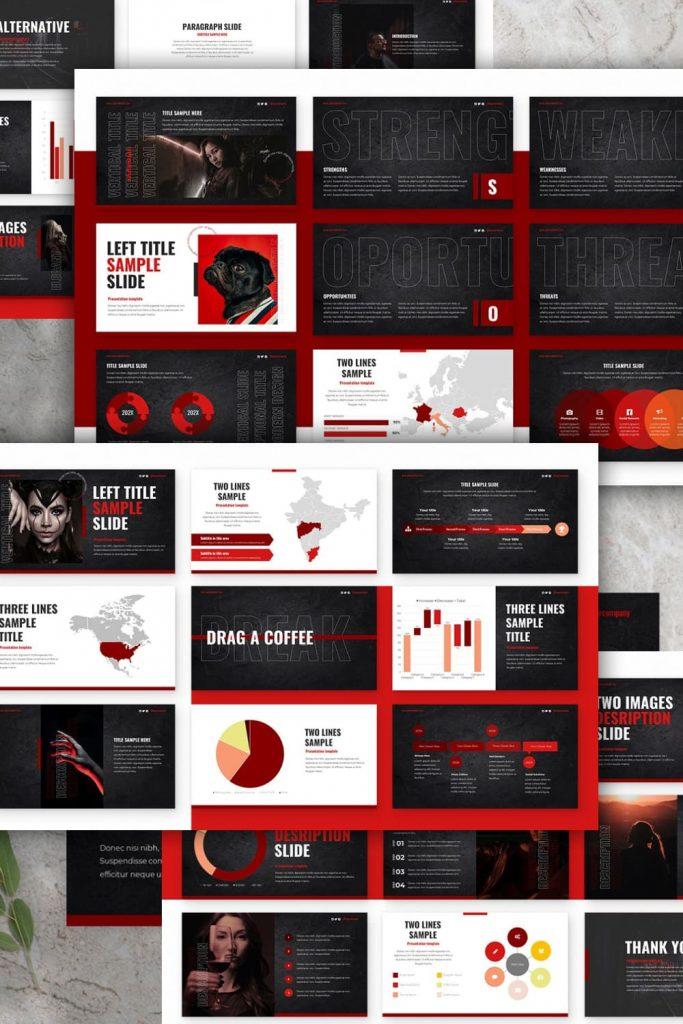 Alternative Powerpoint Presentation by MasterBundles Pinterest Collage Image.
