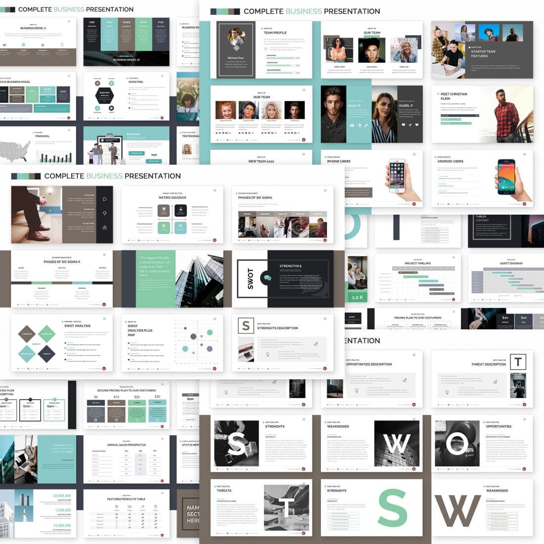 Complete Business Powerpoint Template.
