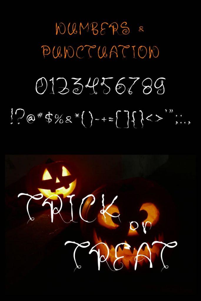 MasterBundles Dark Halloween - best free font halloween Pinterest Collage Image.