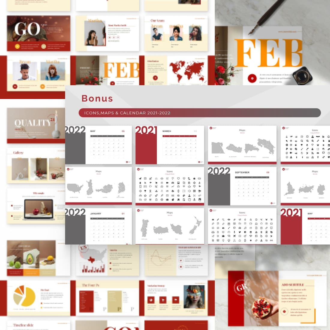 Ginger Powerpoint Presentation Template.