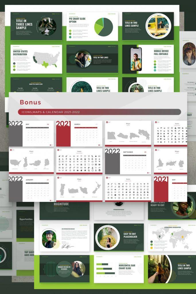 Magnitude Powerpoint Presentation Template by MasterBundles Pinterest Collage Image.