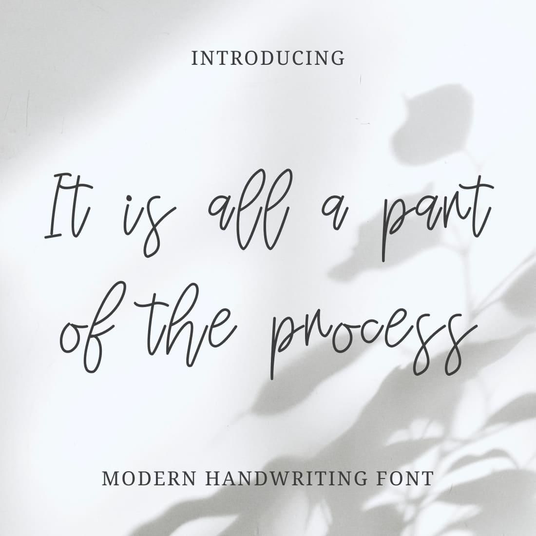 Collage Example Image for Modern Mignonette Handwriting Font MasterBundles.