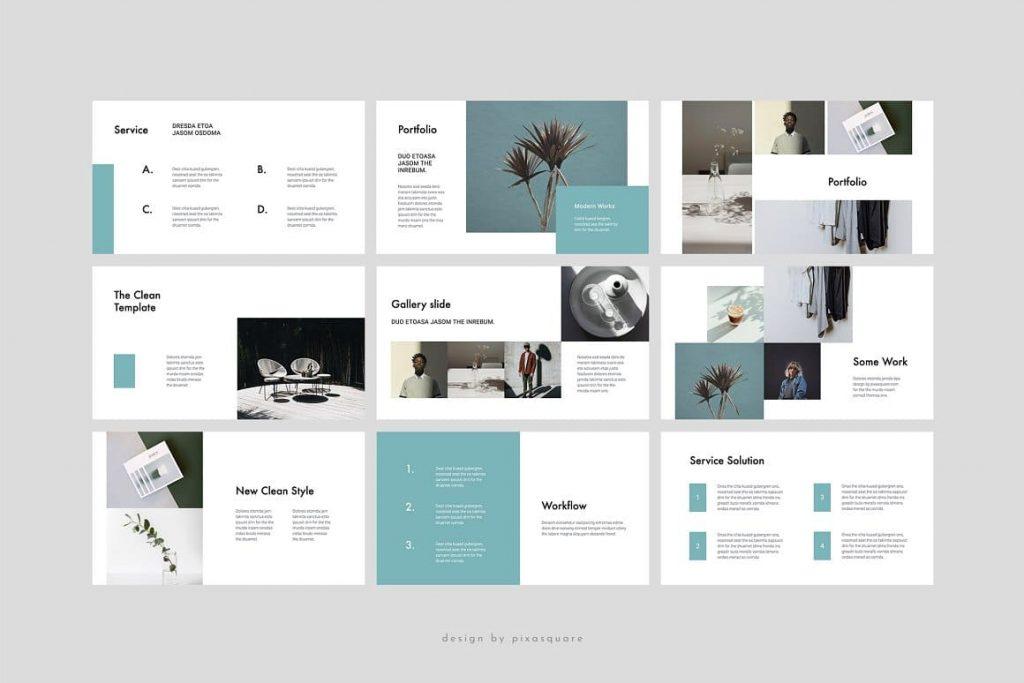 Portfolio & Gallery Slides CABO Google Slides Template.