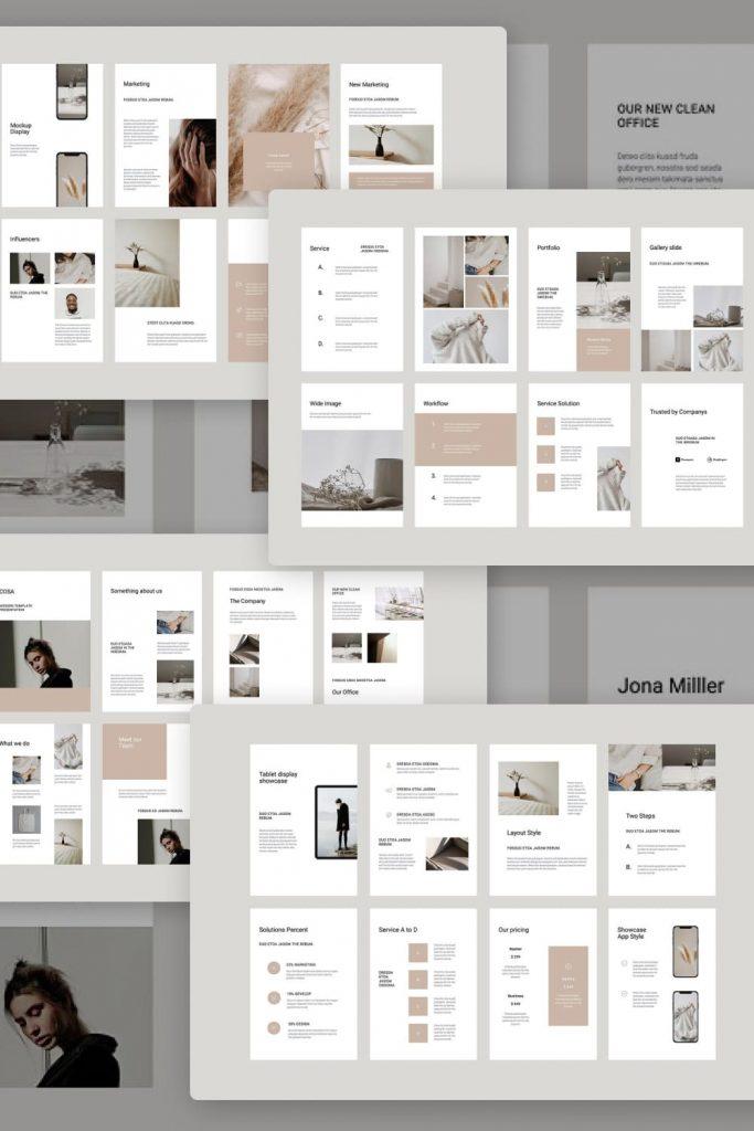 COSA - Vertical Keynote Template by MasterBundles Pinterest Collage Image.