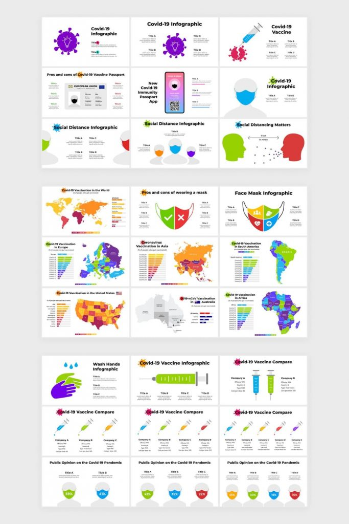 Covid-19 Vaccination Infographics by MasterBundles Pinterest Collage Image.