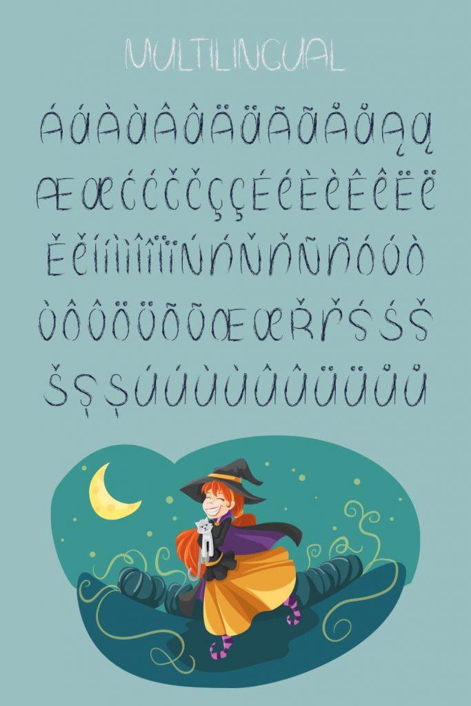 Free Spooky Halloween Font Pinterest Multilingual Example by MasterBundles.