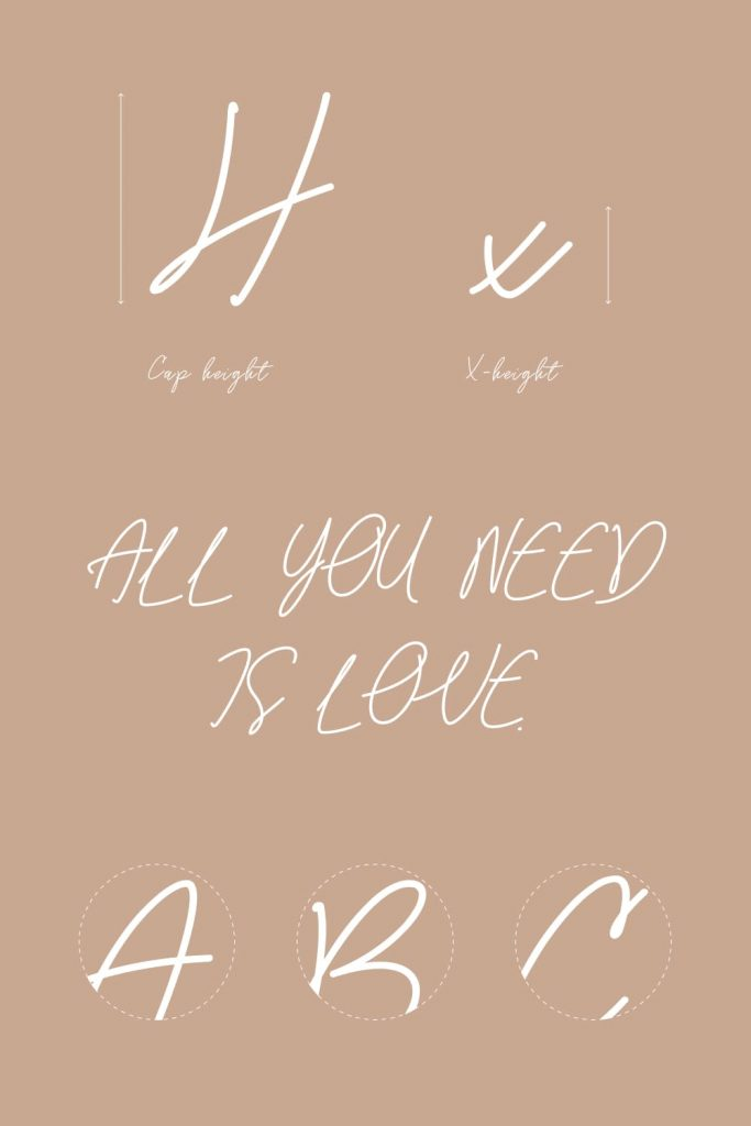MasterBundles Gossamer Handwriting Font Pinterest Collage Image.