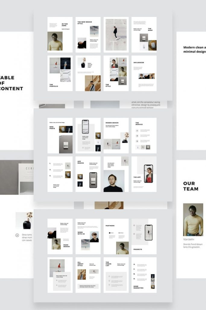 MODEN - Keynote A4 Vertical Template by MasterBundles Pinterest Collage Image.