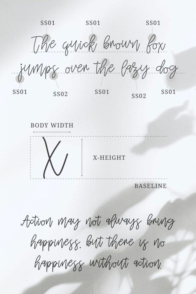 Mignonette Handwriting Font Pinterest Collage Image by MasterBundles.