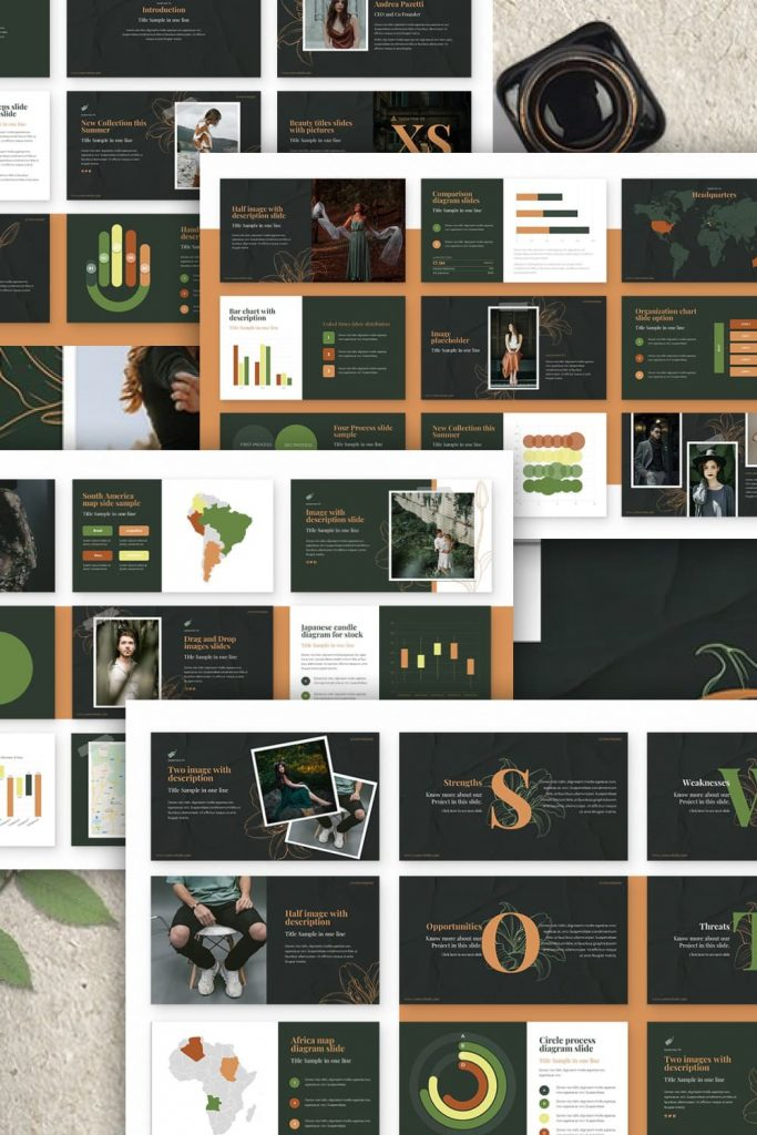 Spring Powerpoint Presentation by MasterBundles Pinterest Collage Image.