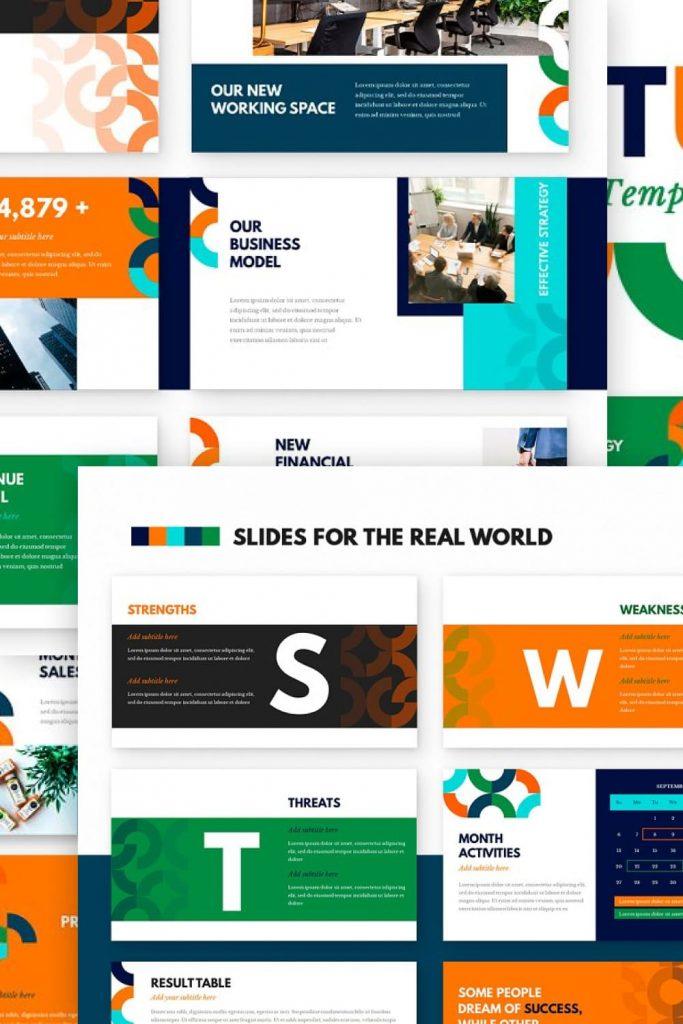Startup Powerpoint Presentation Template by MasterBundles Pinterest Collage Image.