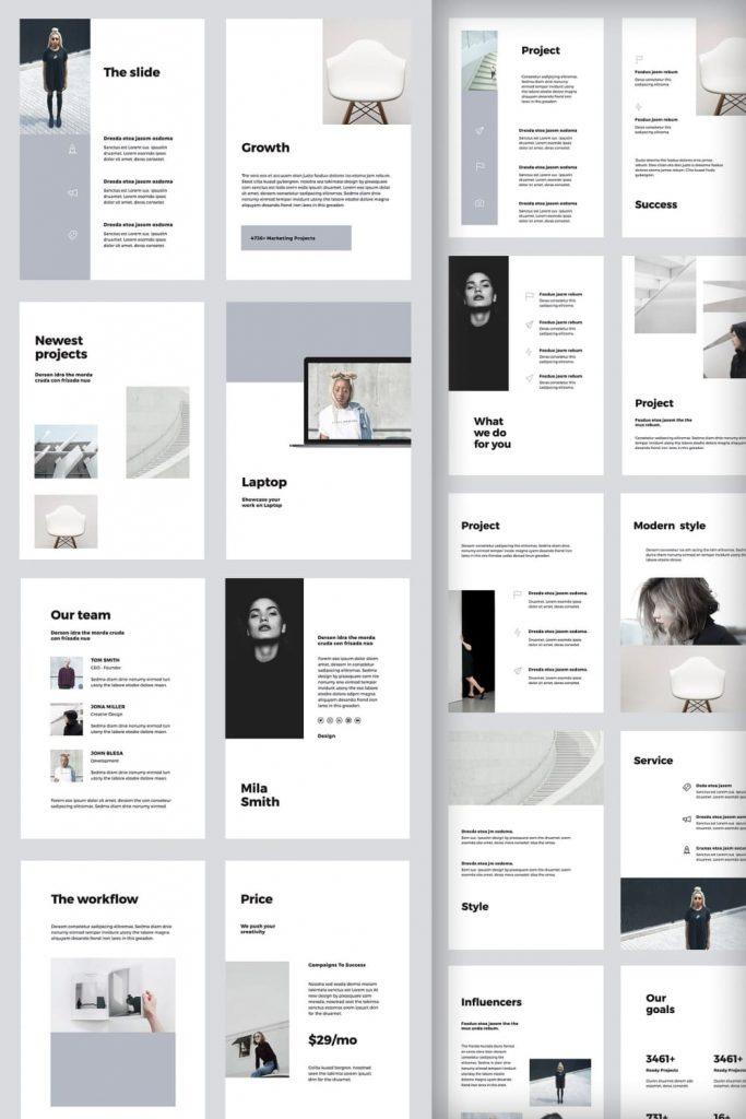 VIGO Vertical Google Slides Template by MasterBundles Pinterest Collage Image.