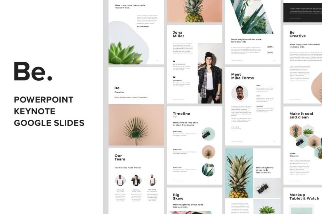BE - A4 + Us Letter Vertical Keynote Template.