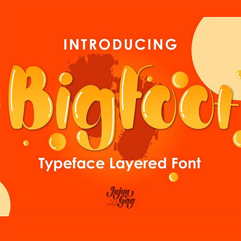 Bigfoot Display Font Preview images.