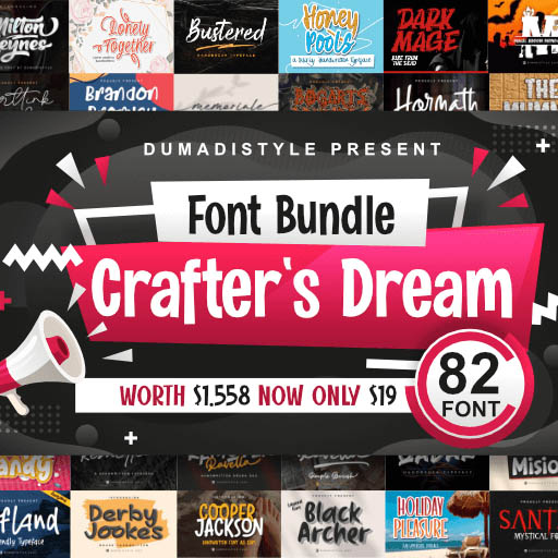 Crafter's Dream Fonts Bundle cover image.