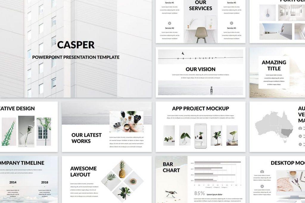 Casper Cover - Powerpoint Template.