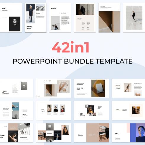 42in1 Powerpoint Bundle Template by MasterBundles.