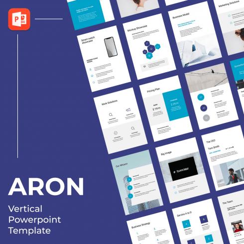 1 ARON Vertical Powerpoint Template 1500х1500